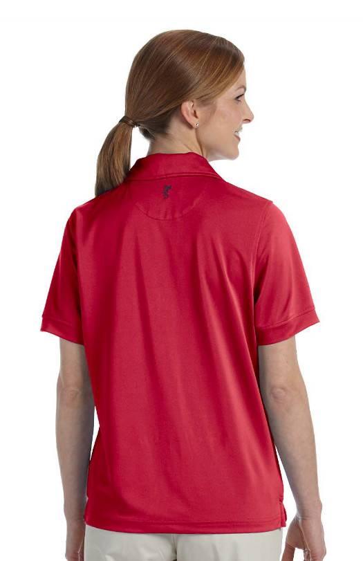 Ashworth womens performance wicking pique polo shirt s 2xl for Moisture wicking button down shirts