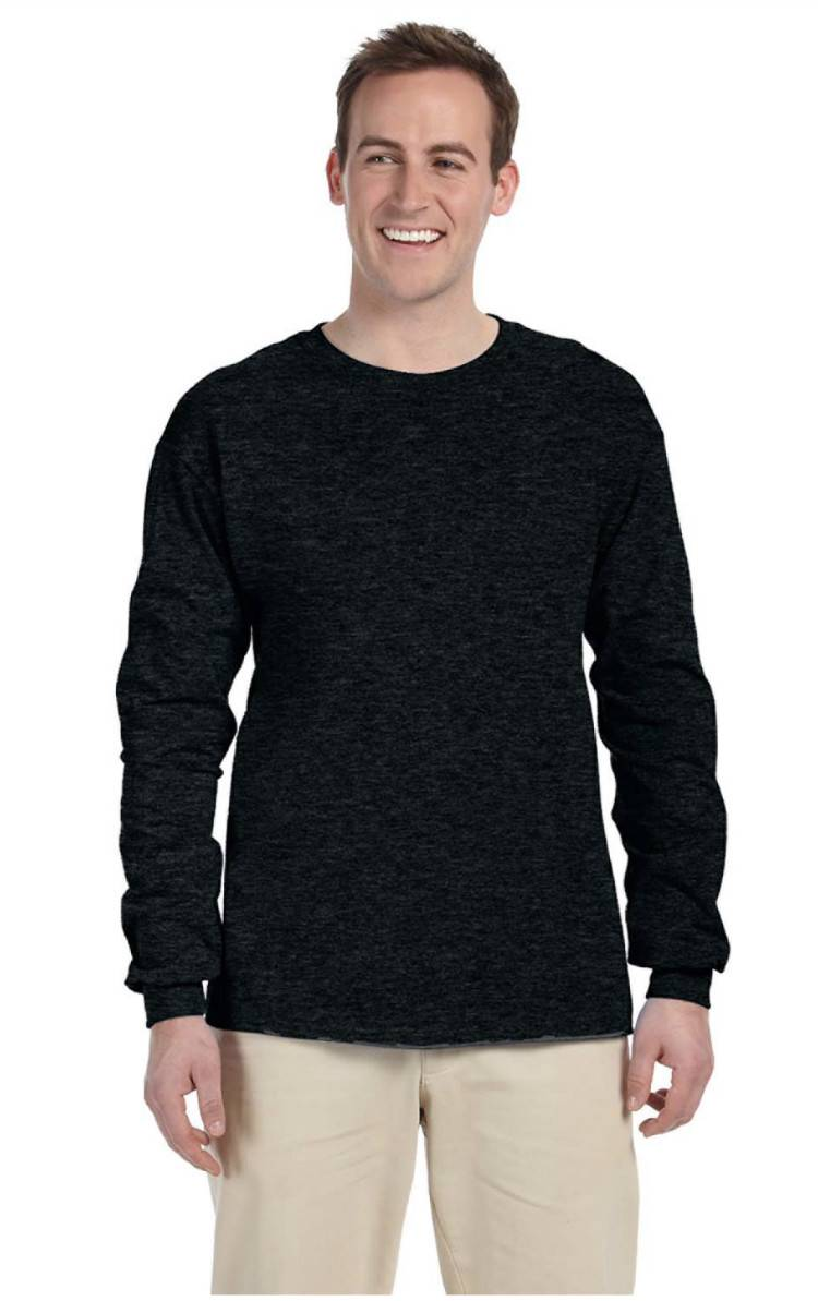 NEW Fruit Of The Loom Tee Heavy Cotton Men's Long Sleeve T-Shirt ...