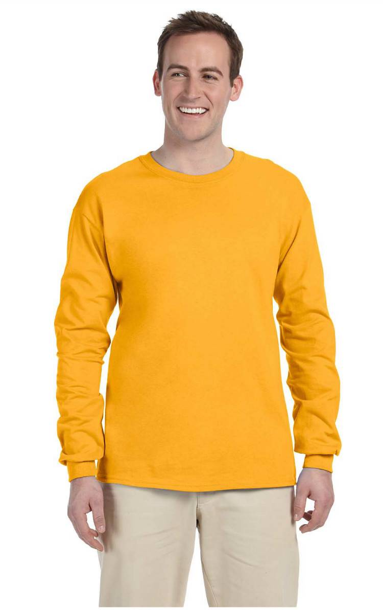 New Fruit Of The Loom Tee Heavy Cotton Men 39 S Long Sleeve T