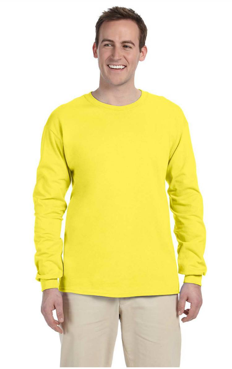 New fruit of the loom tee heavy cotton men 39 s long sleeve t for Fruits of the loom t shirts