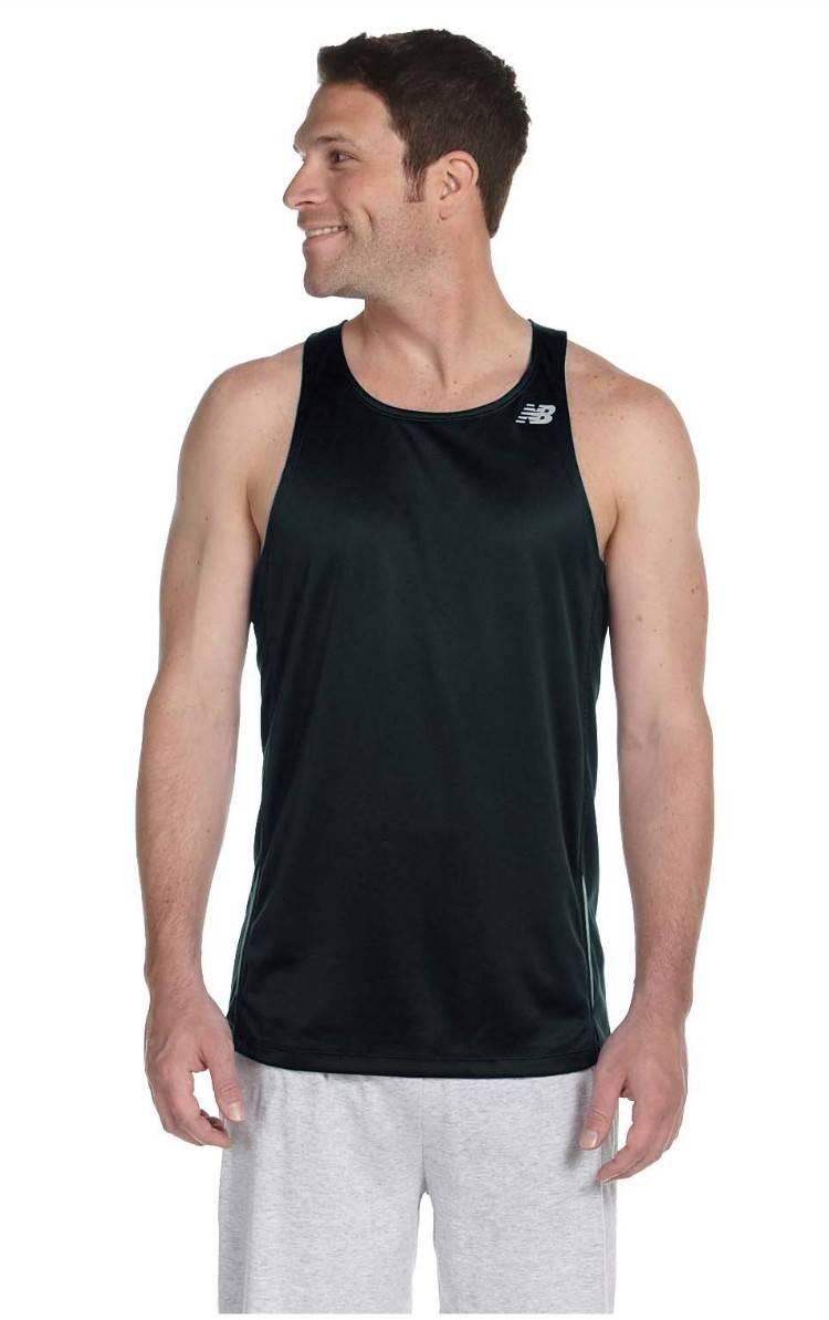 New balance men 39 s tempo running singlet tanktop basketball for Singlet shirt for mens
