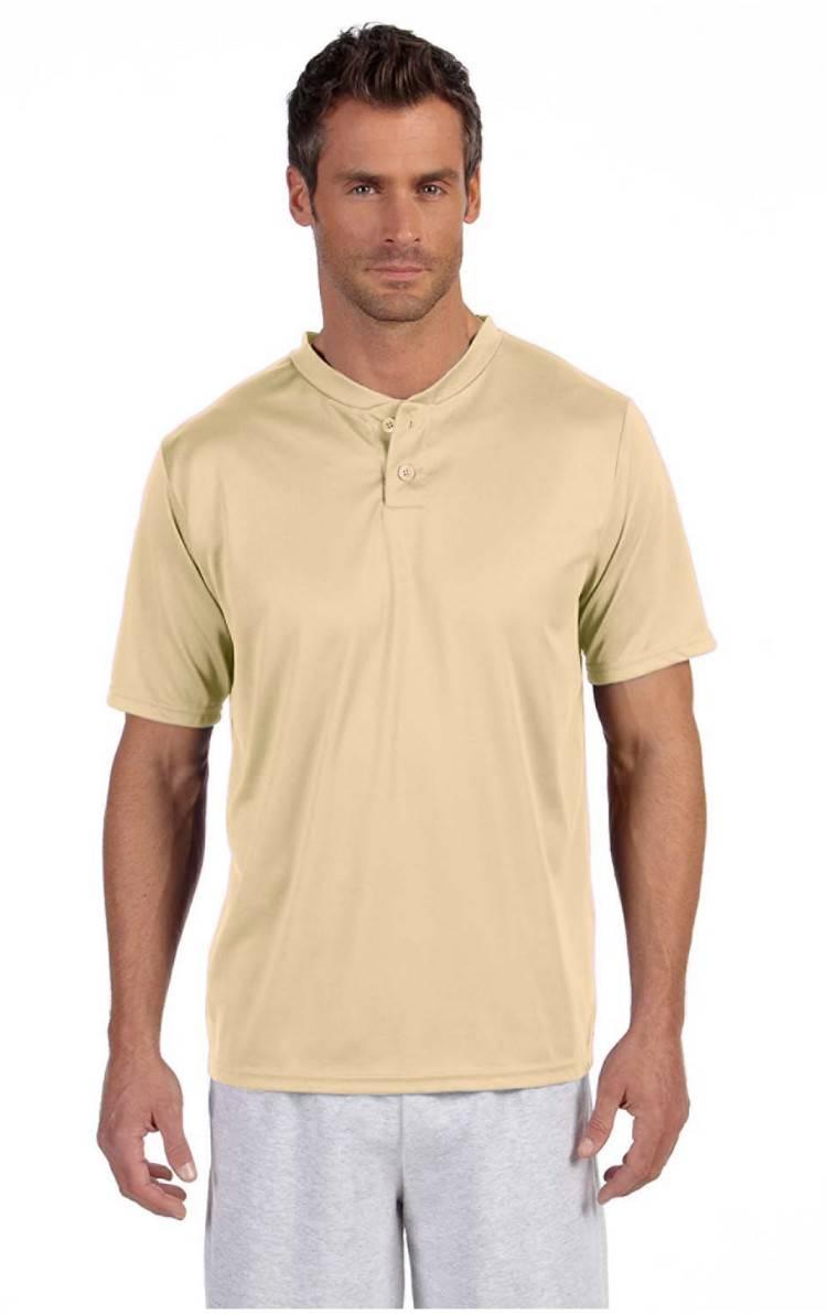 Augusta sportswear men 39 s performance 2 button henley for Mens xl tall henley shirts