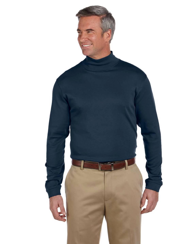 New chestnut hill pima turtleneck men 39 s long sleeve mock for Big and tall mock turtleneck shirt