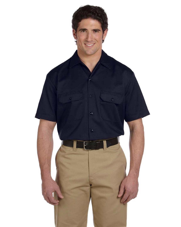 Dickies men 39 s button down work shirt oz short sleeve for Mens short sleeve button down shirts