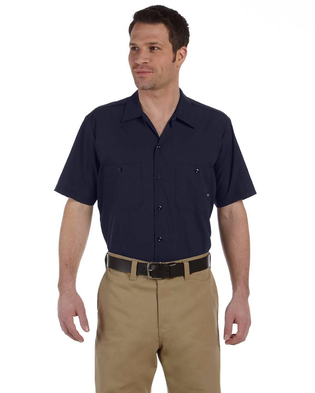 Dickies men 39 s oz dress industrial short sleeve work s for Dickies short sleeve plaid shirt