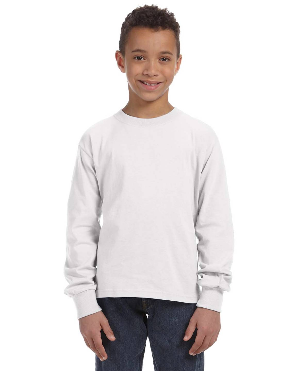 Fruit of the Loom Youth 5 oz 100% Heavy Cotton HD Long Sleeve T-Shirt 4930B
