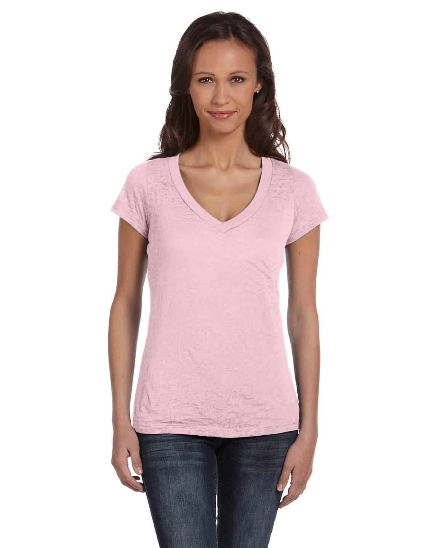 bella women 39 s burnout short sleeve v neck t shirt m8605