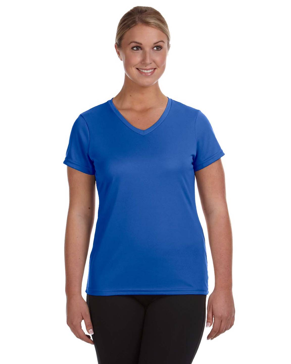 Augusta sportswear ladies moisture wicking v neck big size for Large shirt neck size