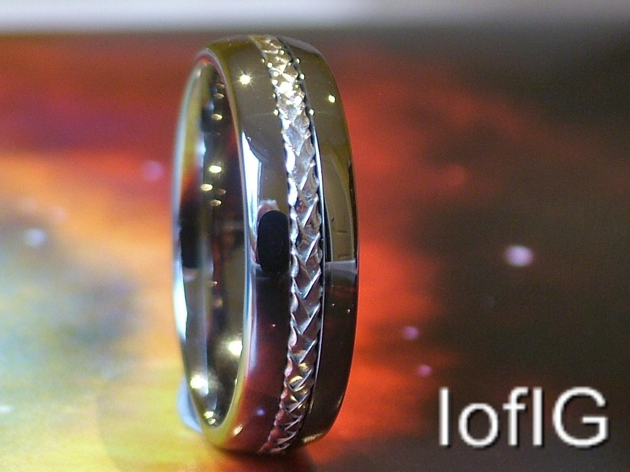 Tungsten Ring Silver Inlay,Silver grey Wedding Band Men's Women,New, size 6-13.5