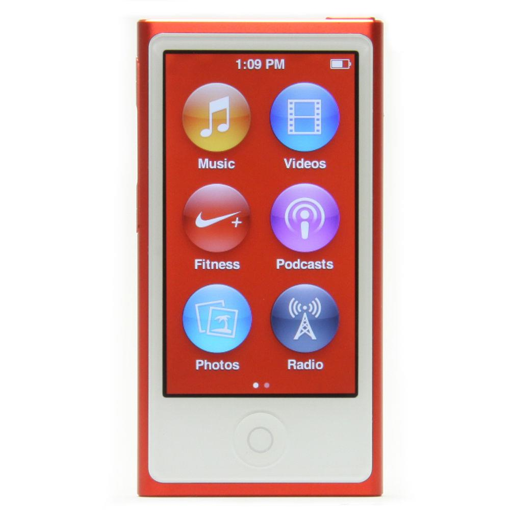 ipod nano 7th gen 16gb purple pink red silver black green. Black Bedroom Furniture Sets. Home Design Ideas