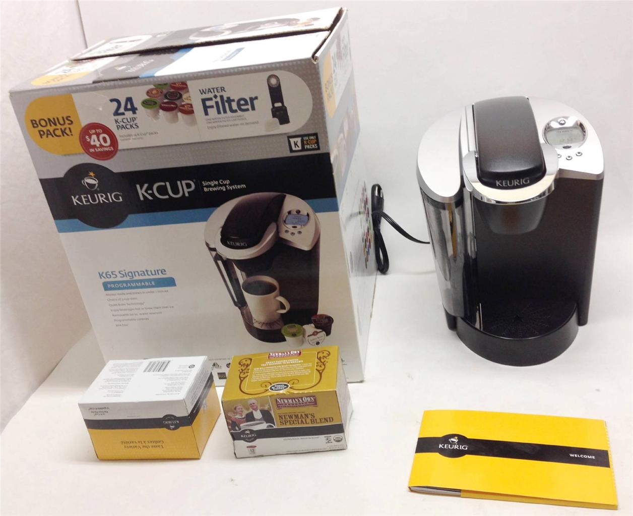 Keurig B60 Single Cup Coffee Maker 24 K Cups Water Filter eBay