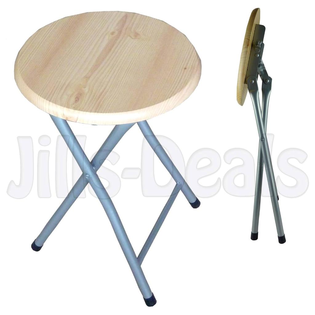 WOODEN STOOL FOLDING KITCHEN BREAKFAST BAR WOOD ROUND  : 722230080o from ebay.co.uk size 1024 x 1024 jpeg 61kB
