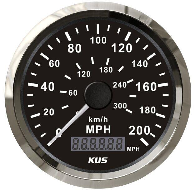 gps speedometer 200mph 300km h stainless steel gauges for car truck waterproof ebay. Black Bedroom Furniture Sets. Home Design Ideas