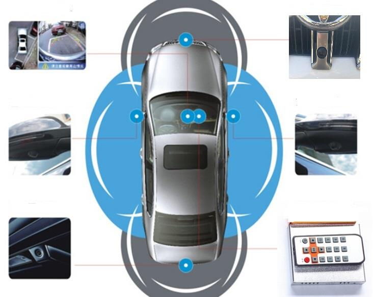 360 Degree Surround View System Car Hd Parking Kit