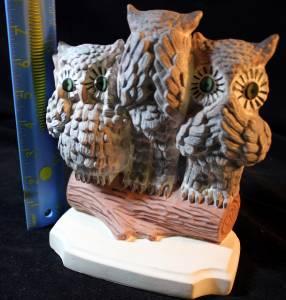Arners crafts vintage ceramic hear see speak no evil 3 owls bookend 1979 - Hear no evil owls ceramic ...