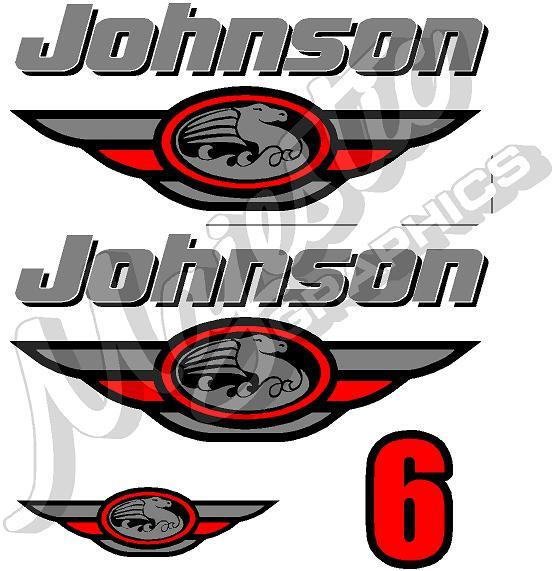 Johnson 6hp Decal Kit Outboard Decals