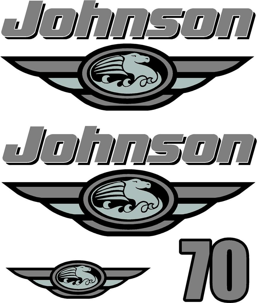 Johnson 70hp Decal Set Outboard Decals Ebay