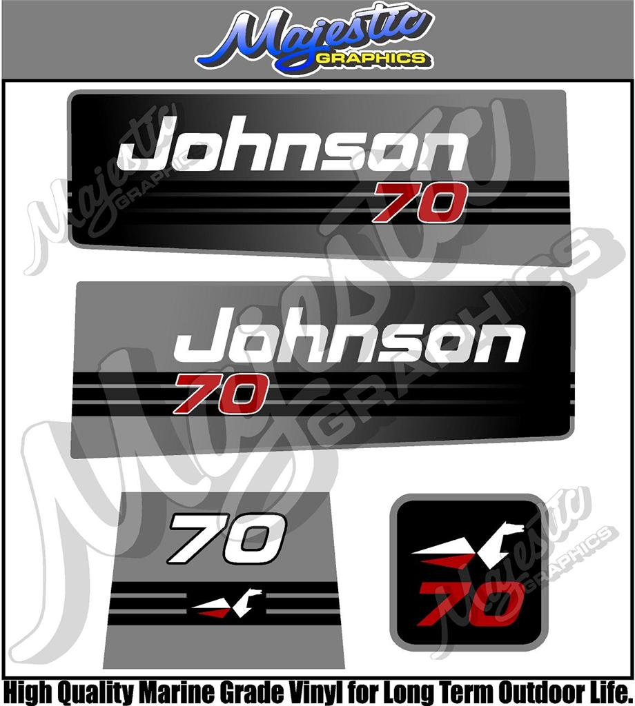 Johnson 70hp Outboard Decals Ebay