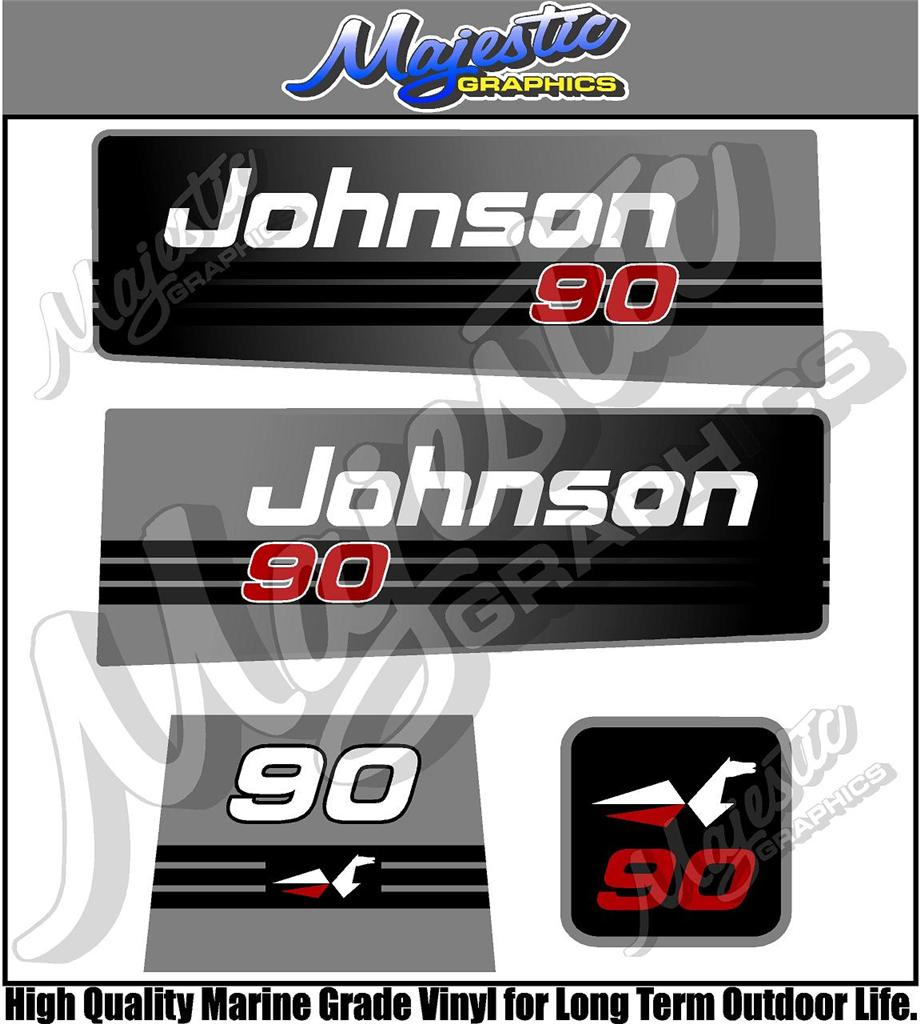 Johnson 90hp Outboard Decals