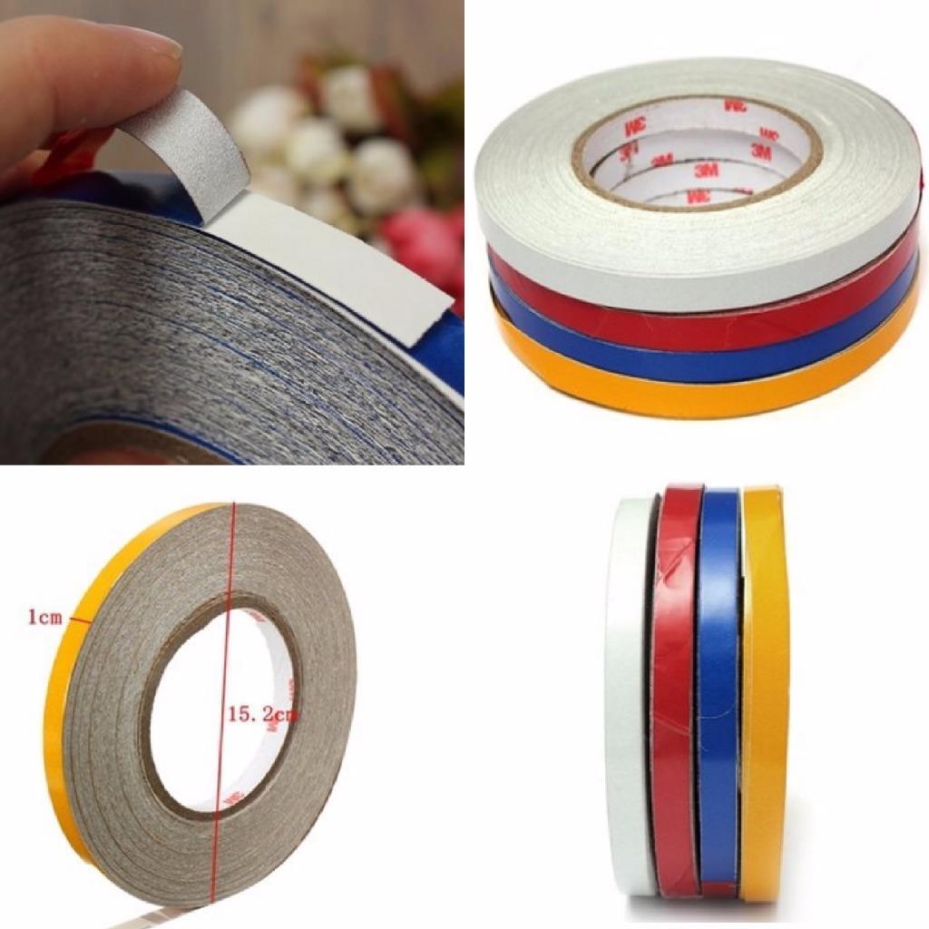 Yellow Reflective Body Stripe Vinyl Tape Diy Sticker Decal