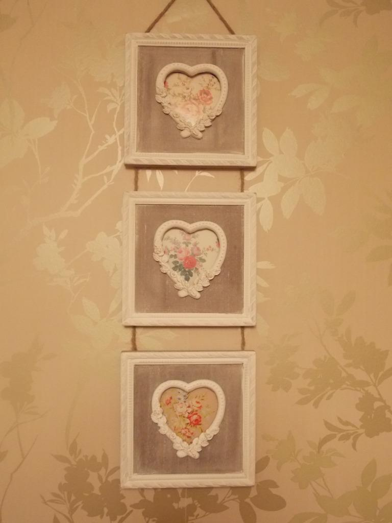 Sass & Belle Vintage Antique Shabby Chic Style Wooden Heart Photo Frames