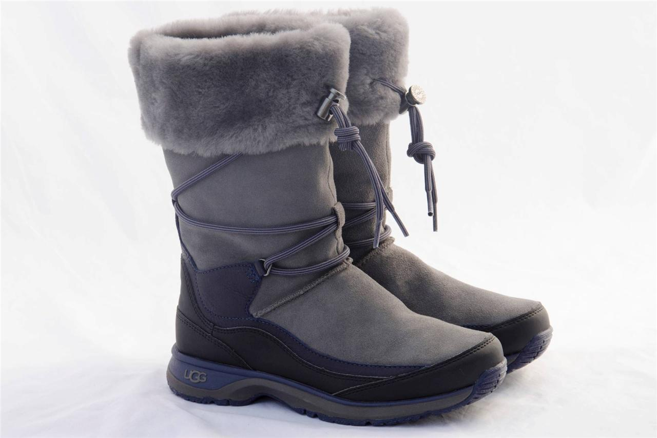 ugg orellen women 39 s waterproof thinsulate gray boots us 7. Black Bedroom Furniture Sets. Home Design Ideas