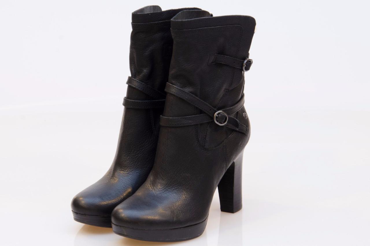 ugg high heel black buckle boots size us 9 uk 7 5