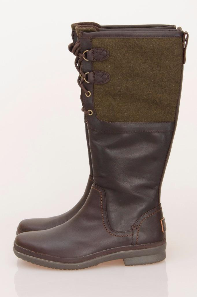ugg elsa stout waterproof leather lace up boots size