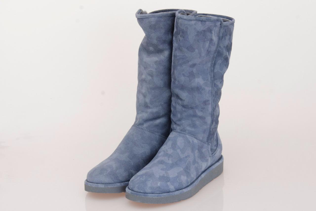 ugg collection abree blu camo shearling boots size us 7 uk. Black Bedroom Furniture Sets. Home Design Ideas