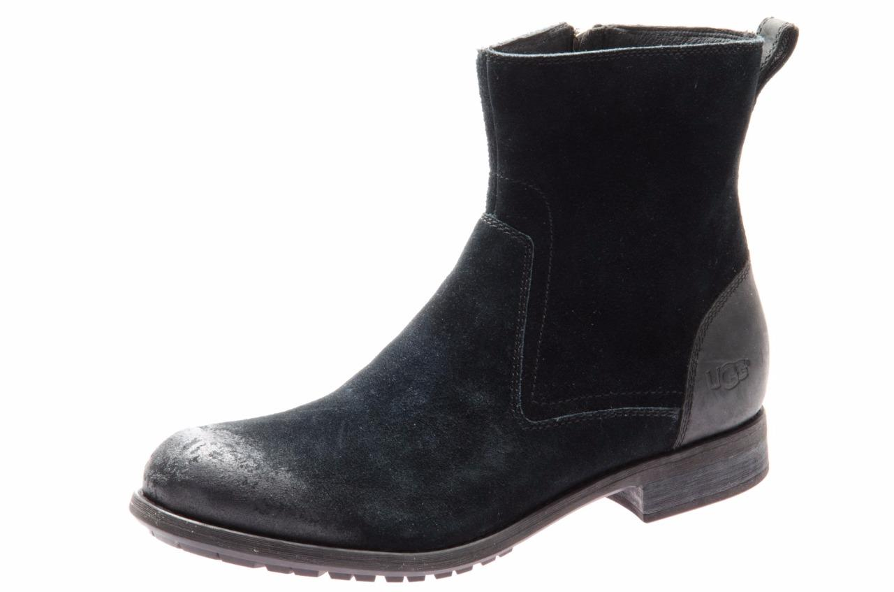 ugg dulwich s black waterproof leather suede boots