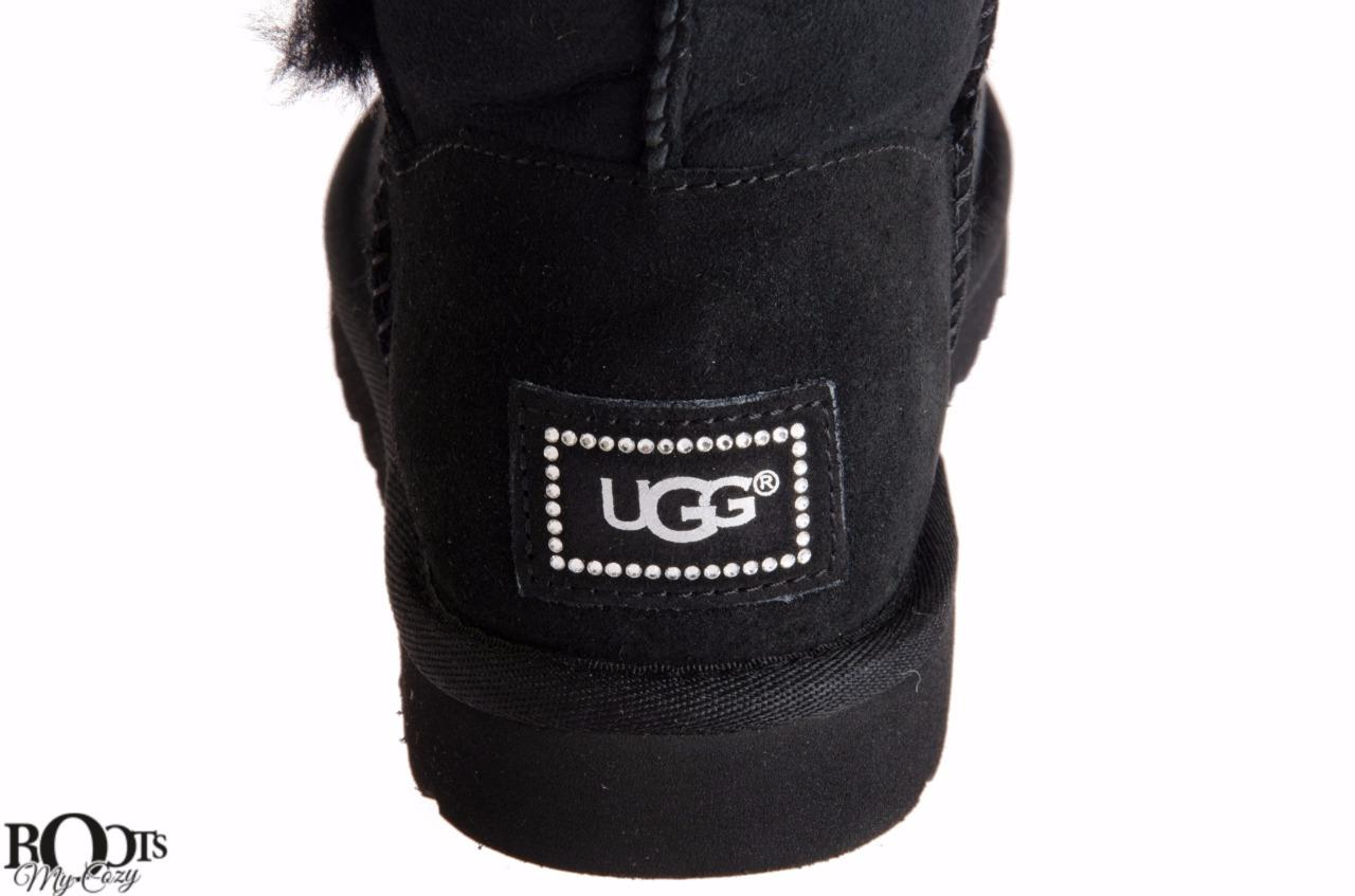 ugg bailey button black size 8