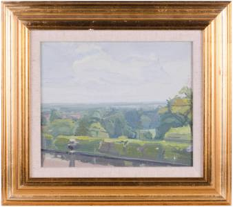 Dick lee 1923 2001 impressionist oil painting richmond for 18 richmond terrace