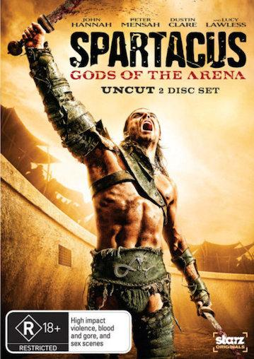 SPARTACUS-GODS-OF-THE-ARENA-Uncut-NEW-SEALED-R4-DVD