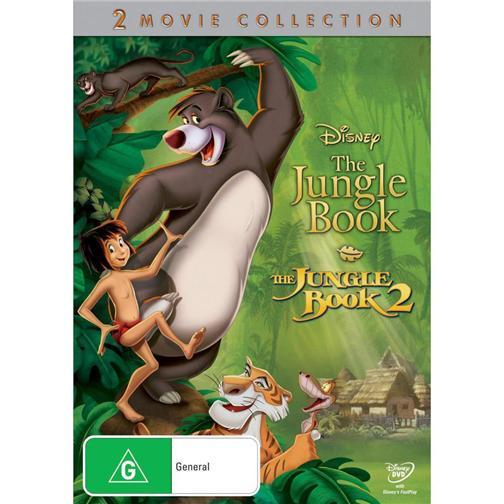 THE-JUNGLE-BOOK-1-2-NEW-Disney-R4-DVD