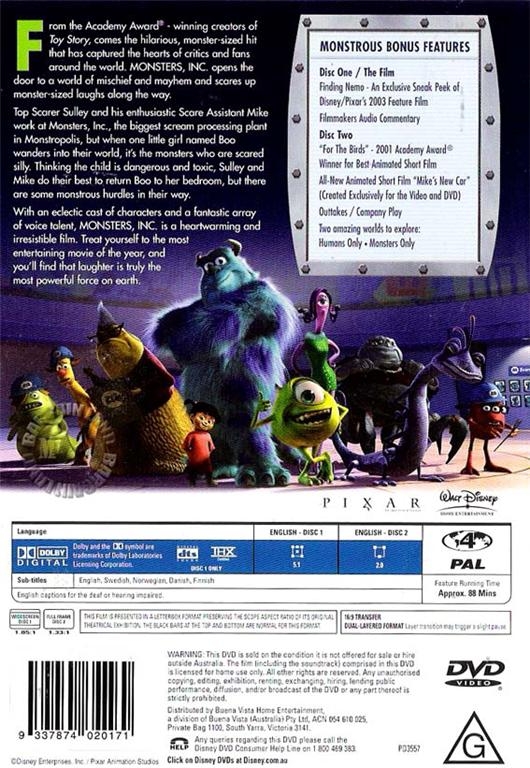 monsters inc ethical delimas Ethics in tv and movies point counterpoint  monsters, inc is one of the most lovable of all the pixar films perhaps that would be the best way to describe it.