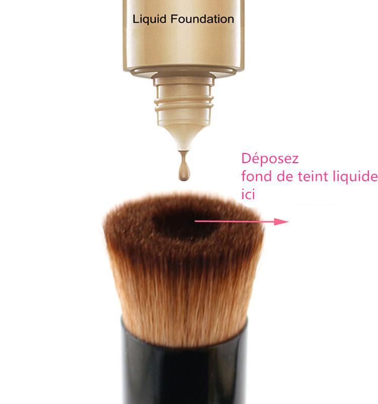 vela pinceau fond de teint liquide professionnel pinceau pour maquillage ebay. Black Bedroom Furniture Sets. Home Design Ideas