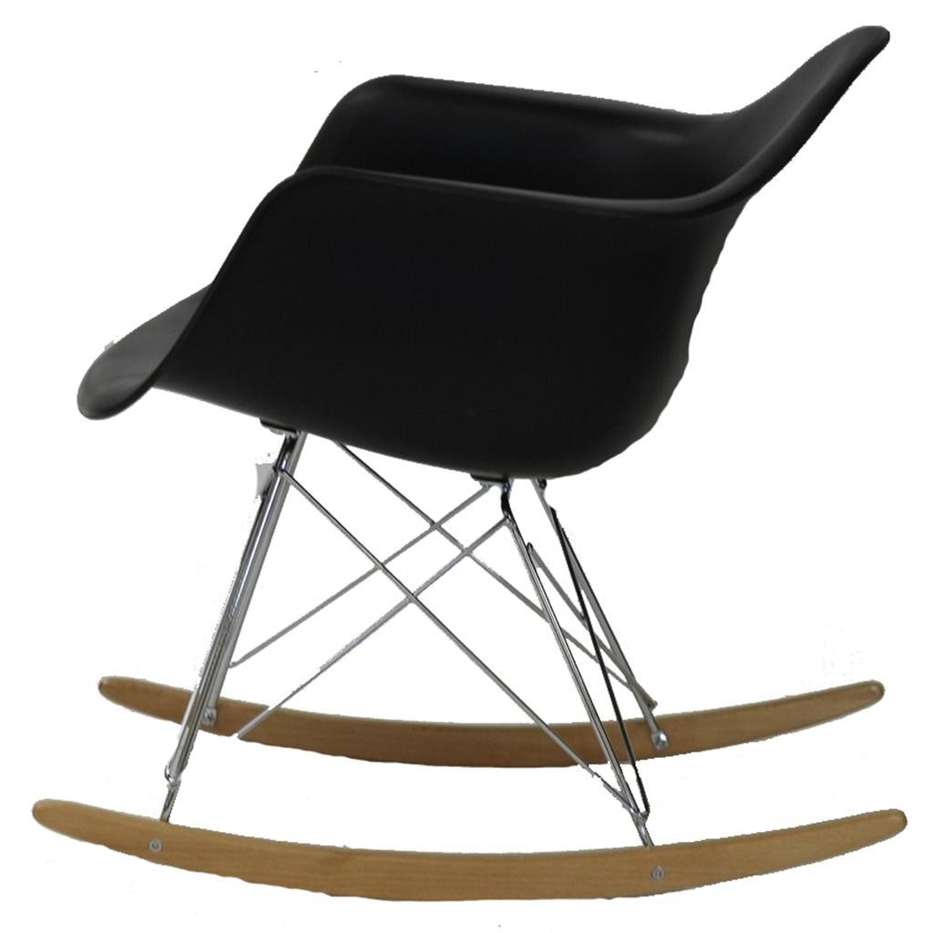 eames style arm molded rocking chair blue black red white green ebay. Black Bedroom Furniture Sets. Home Design Ideas