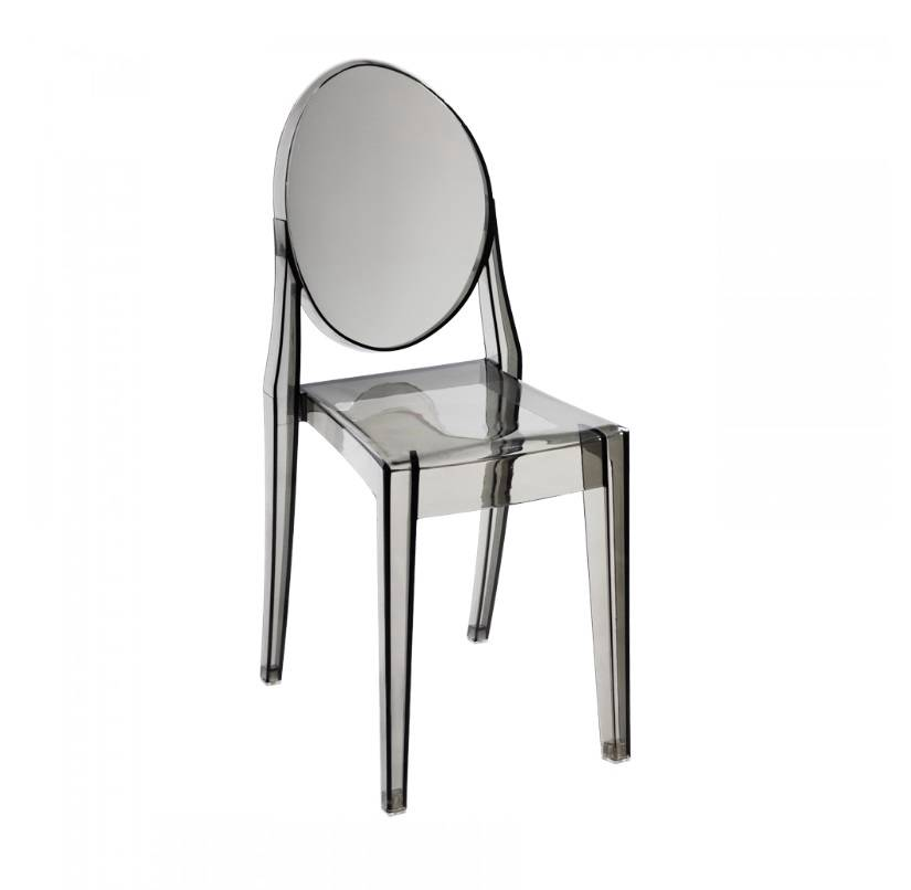 2x philippe starck style victoria ghost side chair in for Philippe starck style