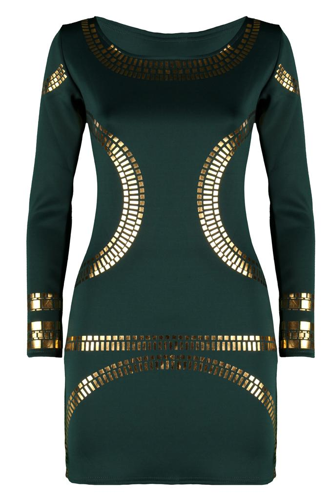 Womens-Ladies-Celebrity-Kim-Kardashian-Beyonce-Inspired-Gold-Foil-Bodycon-Dress