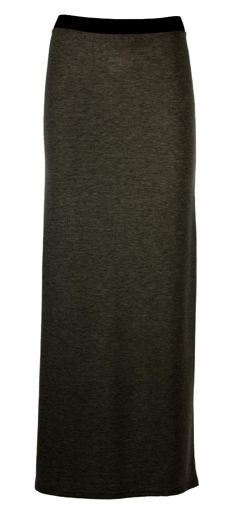 Womens-Ladies-Party-Plain-Elasticated-Waist-Long-Jersey-Gypsy-Maxi-Skirt-UK-8-14