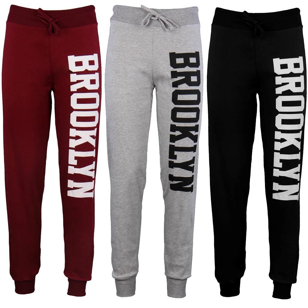 Womens-Ladies-Jogging-Bottoms-Joggers-Track-Pants-Brooklyn-Gym-Sweat ...