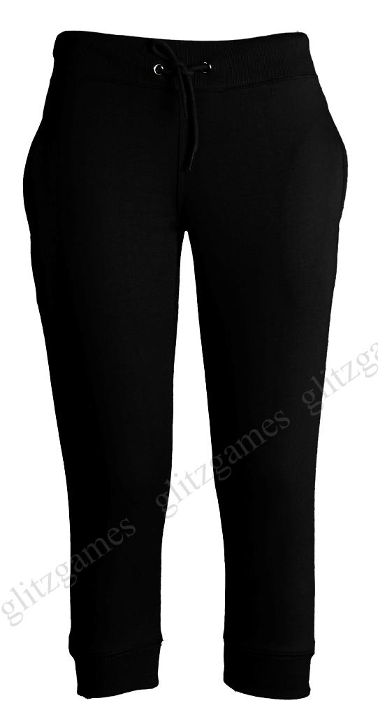 Womens-Ladies-Jogging-Bottoms-Joggers-Track-CAPRI-PANTS-3-4-PLUS-Size ...