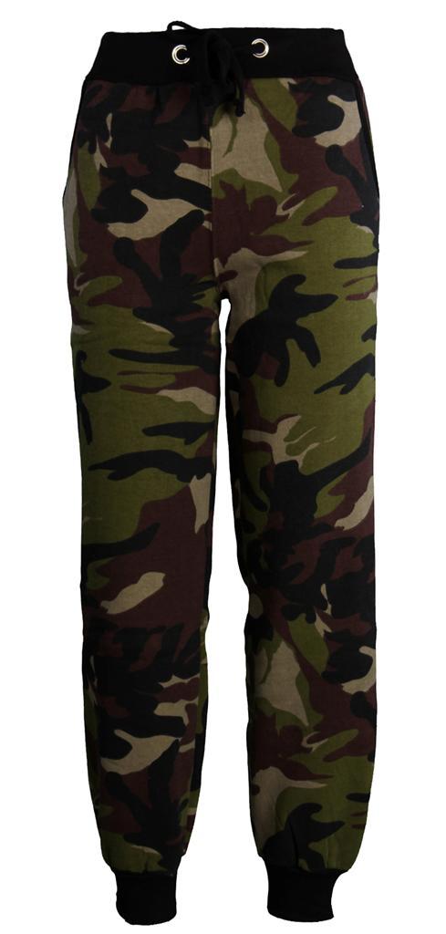 Womens Ladies CAMOUFLAGE ARMY Fleeced Jogging Bottoms Jog Pants Leggings Shorts