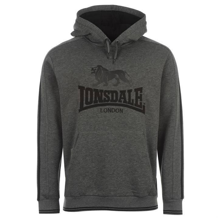 Lonsdale 2 Stripe Hoody Mens Boxing Training Kangaroo Pocket Top All sizes S-XXL