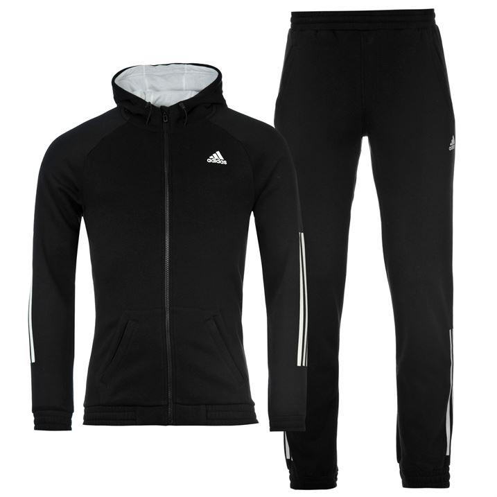 Adidas 3 Stripe Jogging Suit Mens Tracksuit Running Gym Fitness ~All sizes S-XXL | eBay
