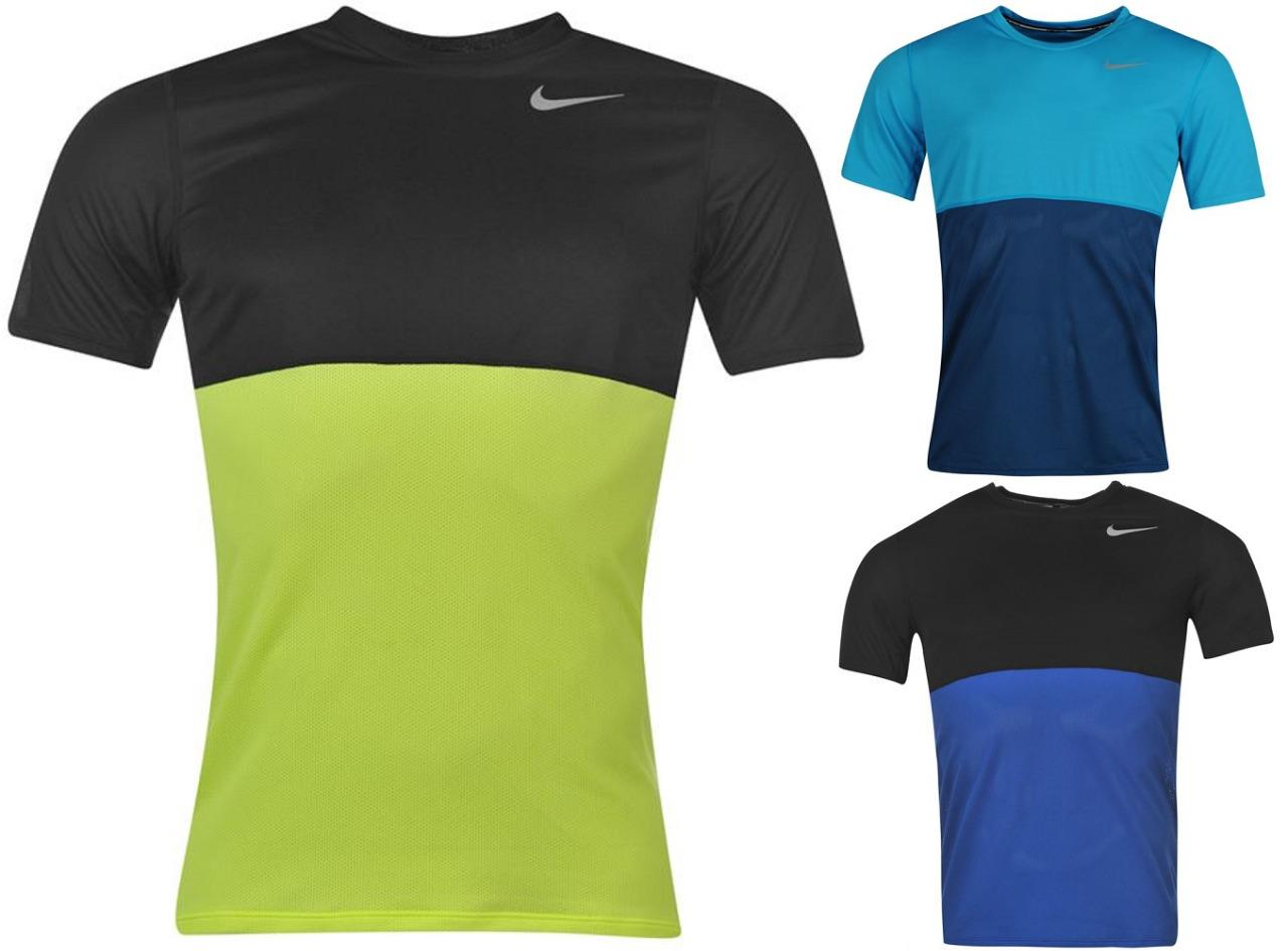 Nike racer running t shirt mens dri fit nike swoosh top for Best athletic dress shirts