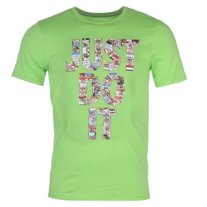 Nike just do it sticker qtt mens t shirt swoosh short for Men s shirt sizes explained