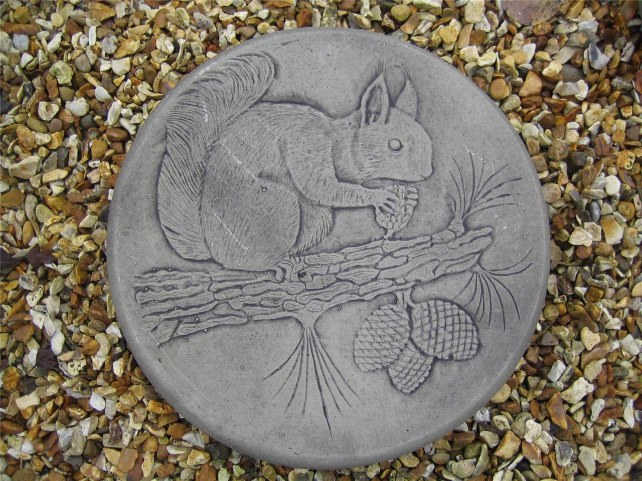 Stepping stone squirrel garden ornament 57other designs for Garden stepping stone designs