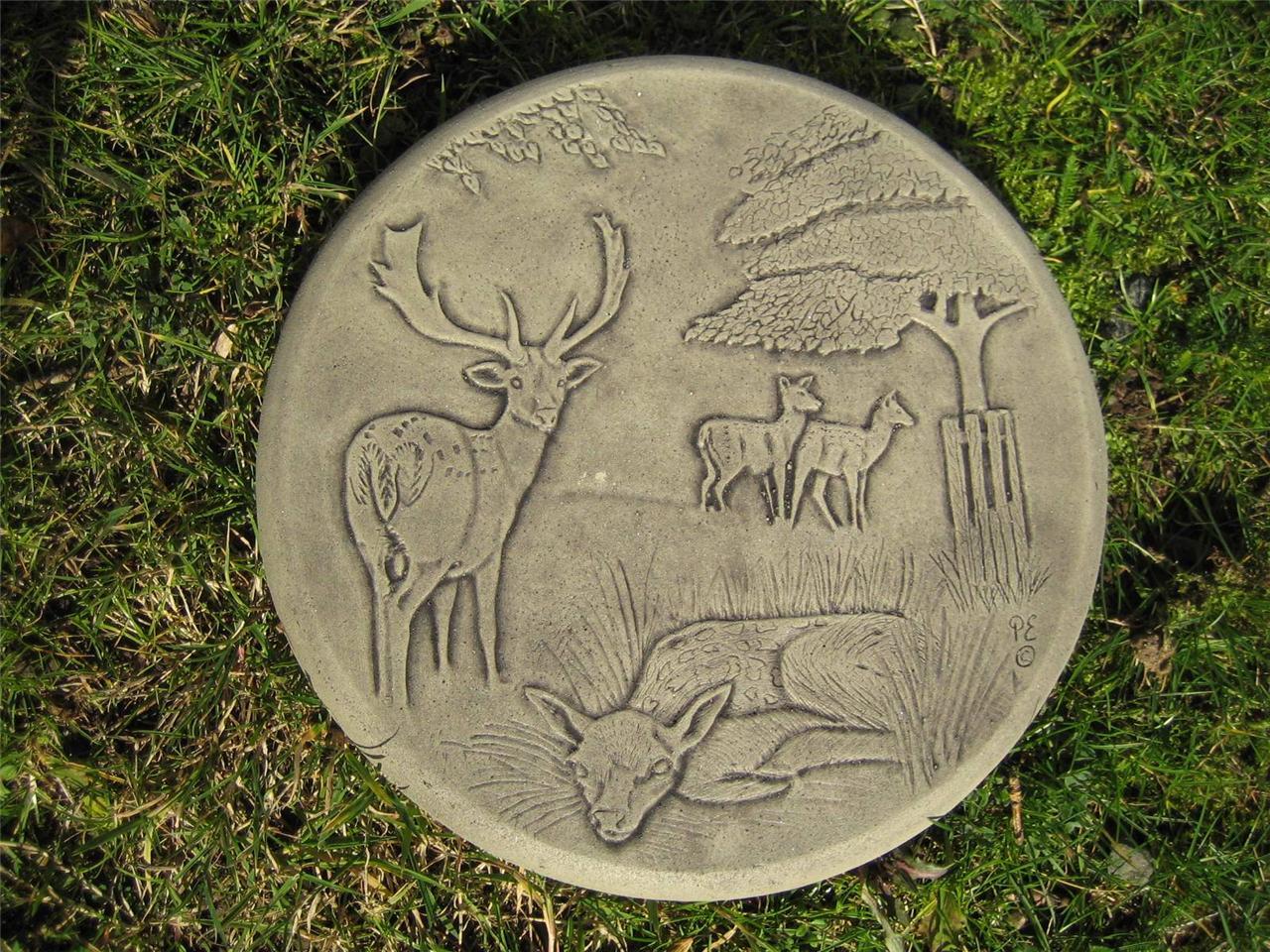 Stepping stone deer garden ornament 57 other designs in for Garden stepping stone designs