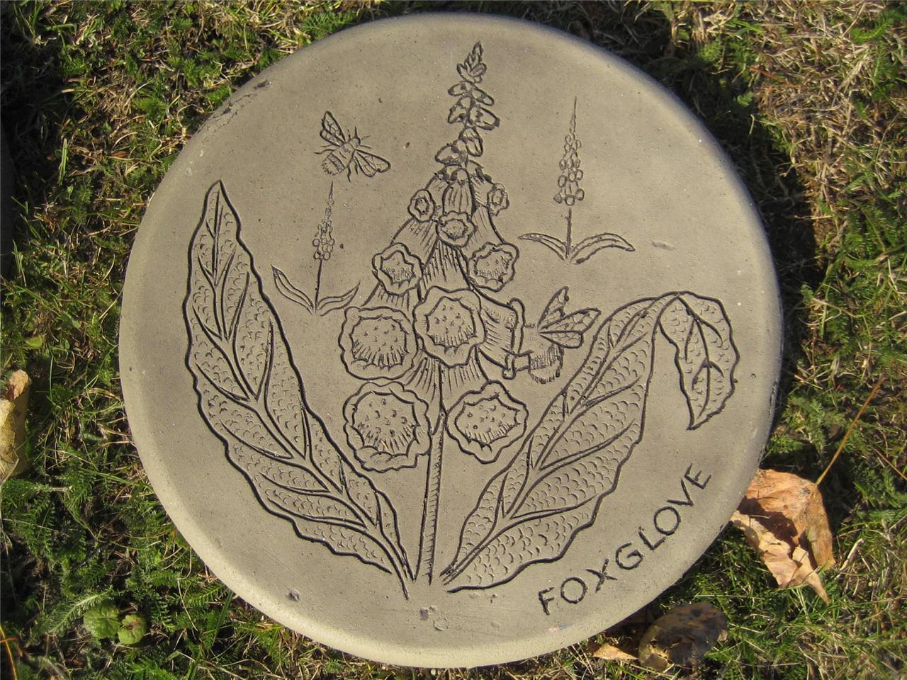 Stepping stone foxglove garden ornament 57 other designs for Garden stepping stone designs